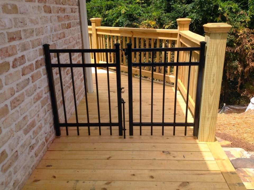 outdoor deck gate outdoor ideas