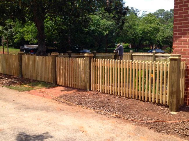 JavaScript Slideshow. Wood Privacy Fence & Akridge Fence: Cedar Wood Fencing | Privacy Fence | Yard Fencing ...